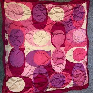 Coach large silk scarf